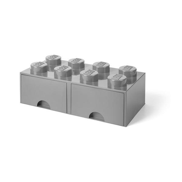 Szürke 2 fiókos tárolódoboz - LEGO®