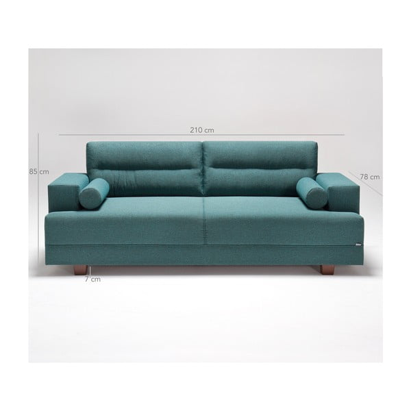 Home Charlie türkiz kanapé - Balcab