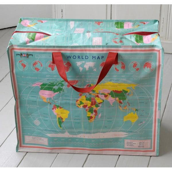 World Map nagyméretű táska, 55x48cm - Rex London