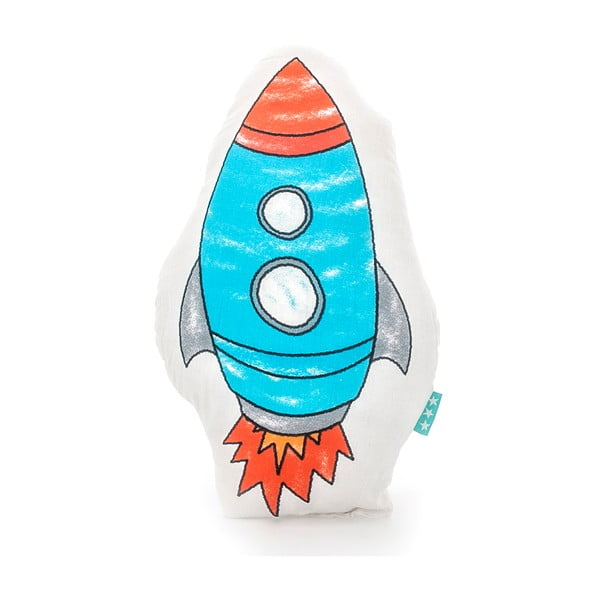 Space Rocket pamut párna, 40 x 30 cm - Mr. Fox
