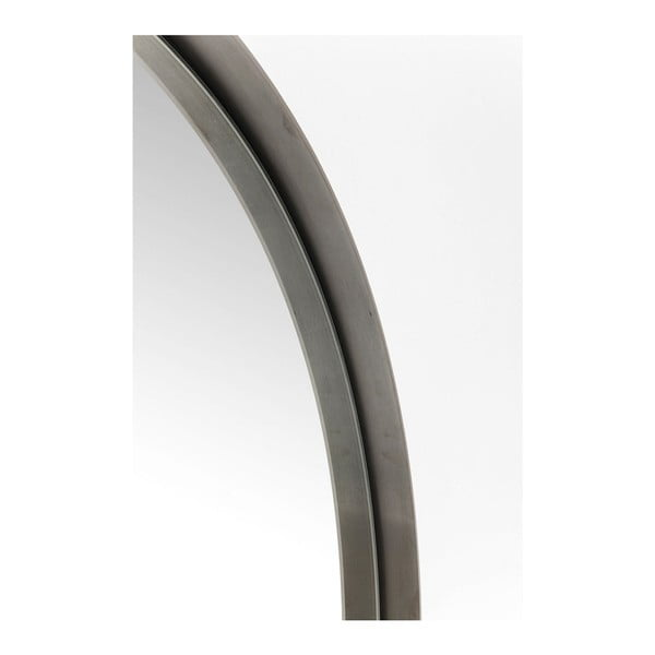 Round Curve kerek tükör fekete keretben, ⌀ 100 cm - Kare Design