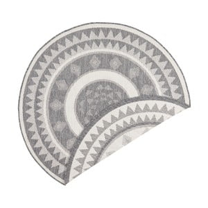 Jamaica szürke-krémszínű kétoldalas kültéri szőnyeg, ⌀ 140 cm - Bougari