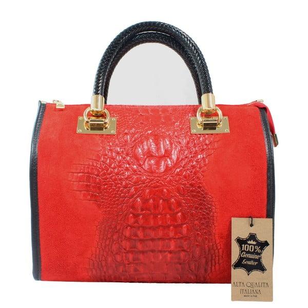 Signora piros bőr kézitáska - Chicca Borse