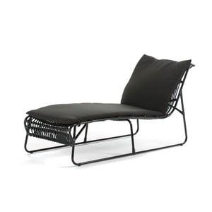 Lounge fekete fekvőfotel - Thai Natura