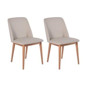 Perstorp bézs székszett tölgyfa lábakkal, 2 darab - RGE