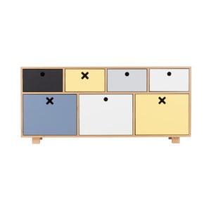 Alacsony színes szekrény - Durbas Style