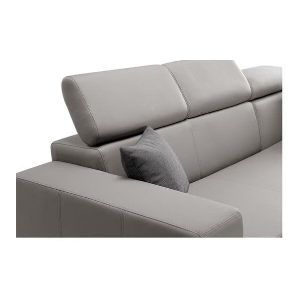 Tresor szürkésbarna kinyitható kanapé, jobb oldali - Interieur De Famille Paris