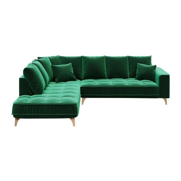 Chloe sötétzöld kanapé, bal oldali - devichy