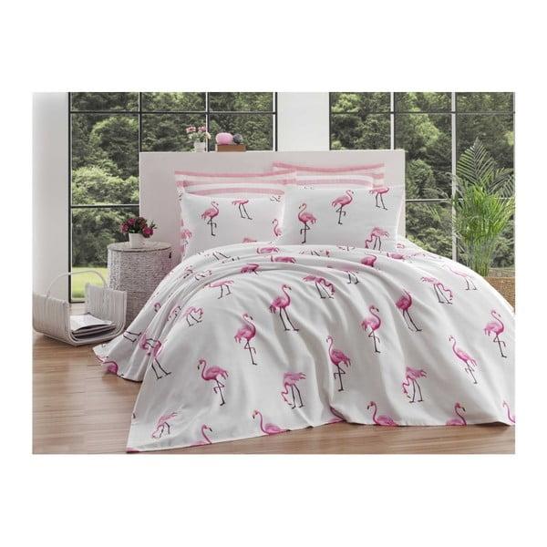 Turro Rusa kétszemélyes pamut ágytakaró, lepedő és 2 párnahuzat szett, 200 x 235 cm