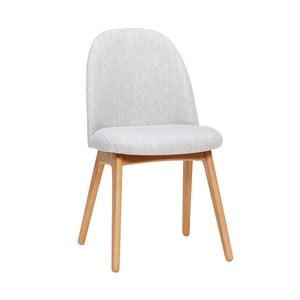 Gisla világosszürke étkezőbe való szék tölgyfa lábakkal - Hübsch