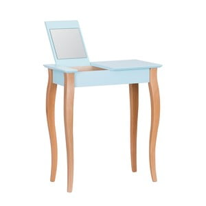 Dressing Table világos türkiz fésülködő asztal tükörrel, 65 cm hosszú - Ragaba