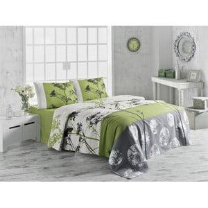 Belezza Green kétszemélyes pamut ágytakaró, 200 x 230 cm