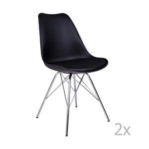 Oslo Crome fekete székkészlet, 2 darab - House Nordic