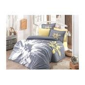 Ahley kétszemélyes popelin pamut ágynemű lepedővel, 200 x 220 cm