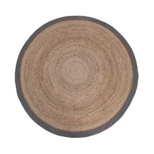 Rug juta szőnyeg szürke szegéllyel, ⌀ 150 cm - LABEL51