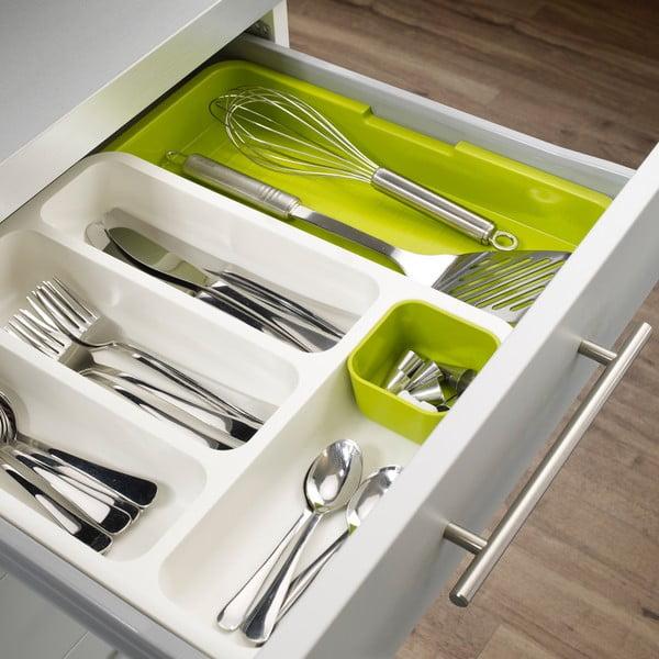 Drawer Store Cutlery zöld-fehér evőeszköztartó - Joseph Joseph