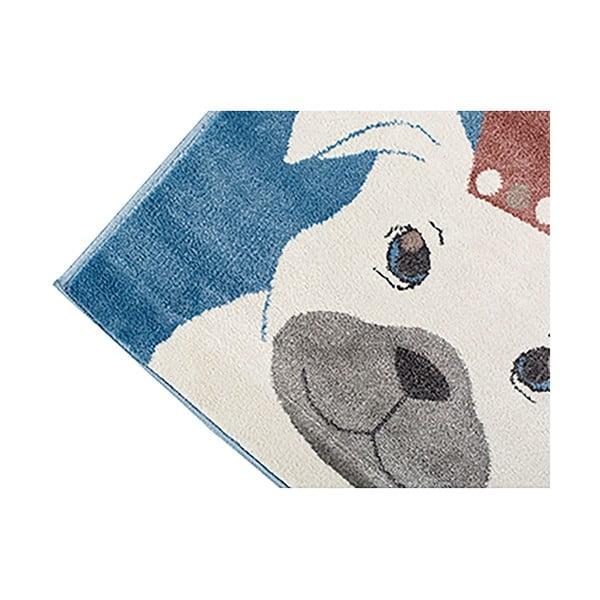 Dark Blue kutya mintás sötétkék szőnyeg, 133 x 190 cm - KICOTI