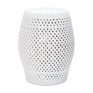 Diamond fehér kültéri kerámia tárolóasztal, ø 35 cm - Safavieh