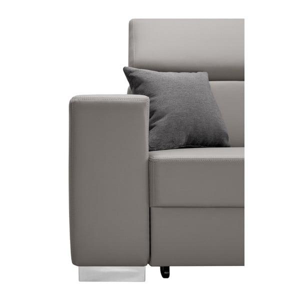 Tresor szürkésbarna kinyitható kanapé, jobboldali - Interieur De Famille Paris