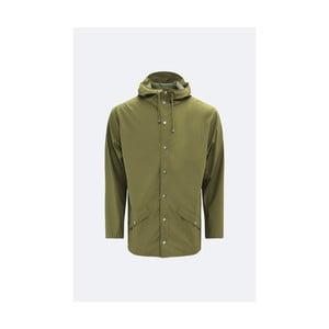 Zelená unisex bunda s vysokou voděodolností Rains Jacket, velikost L/XL