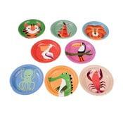 Colourful Creatures 8 darabos tányér készlet - Rex London