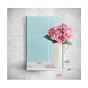 Pink Roses 3D fali kép, 40 x 60 cm - Mosticx