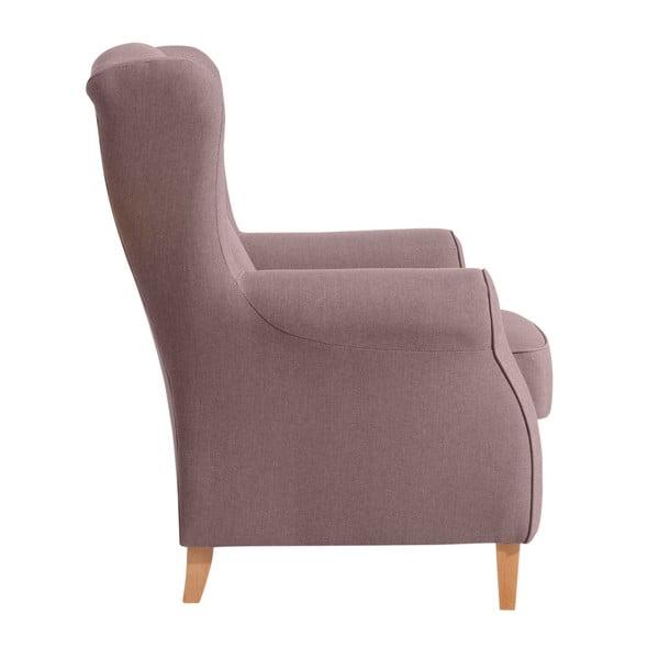 Lorris Aubergine kopott rózsaszín füles fotel - Max Winzer