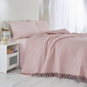 Dusty Rose könnyű kétszemélyes ágytakaró, 220 x 240 cm