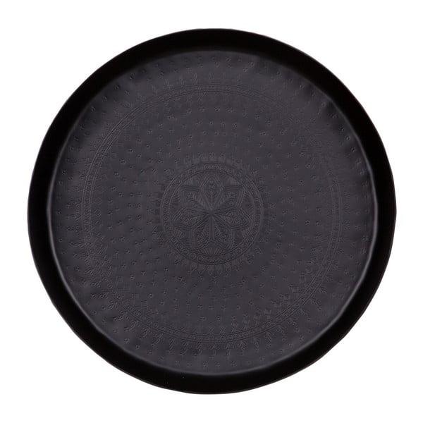 Waitress dekorációs tálca, fekete, Ø 44 cm - BePureHome