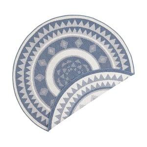 Jamaica kék-krémszínű kétoldalas kültéri szőnyeg, ⌀ 140 cm - Bougari