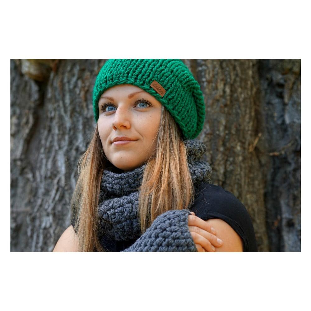 Mina zöld kézzel kötött sapka - DOKE ... 857f44aa36