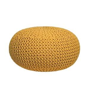Knitted XL sárga kötött puff - LABEL51