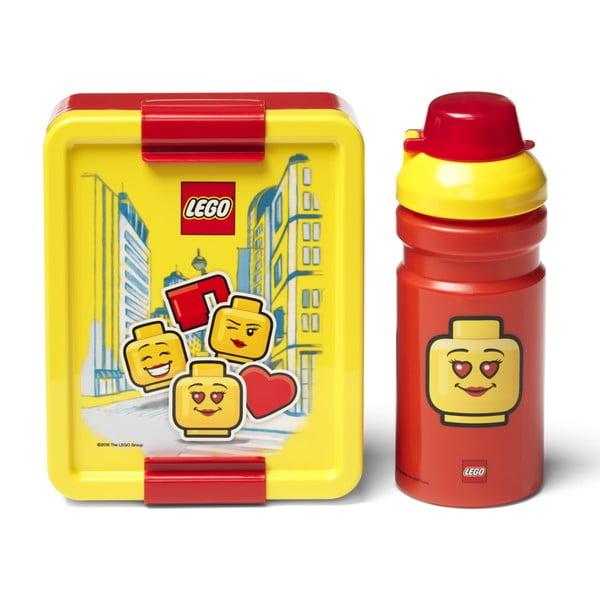 Iconic sárga-piros uzsonnásdoboz és kulacs szett - LEGO®