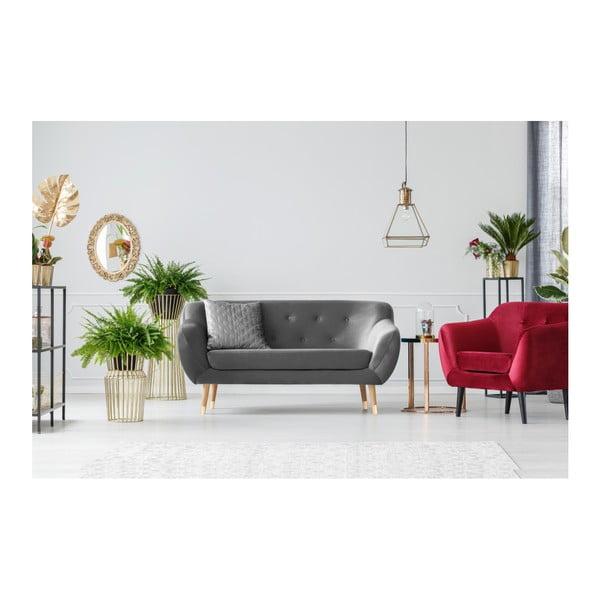 Amelie szürke kétszemélyes kanapé - Mazzini Sofas
