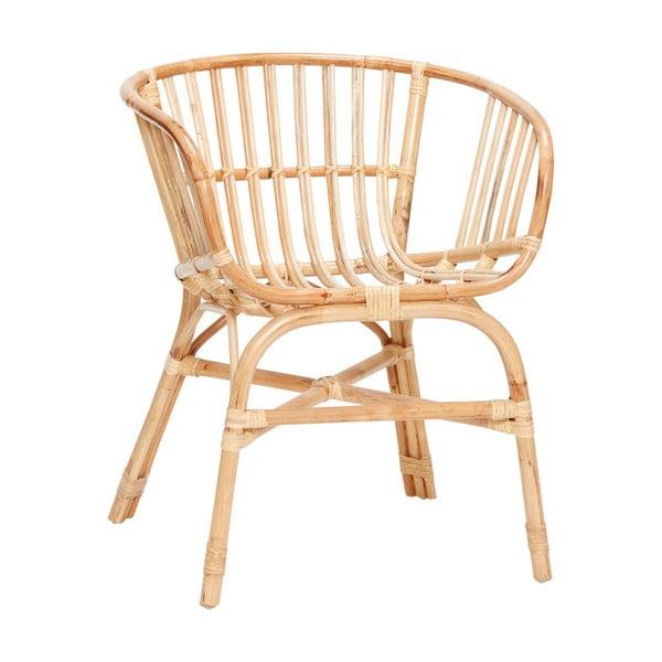 Christofferson natúr rattan fotel - Hübsch