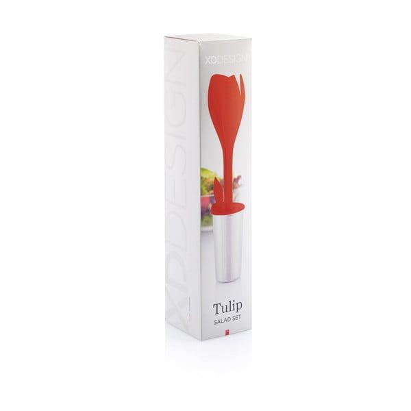 Tulip piros salátás eszköz szett - XD Design