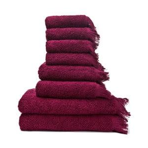 6 db piros 100% pamut törölköző és 2 db fürdőlepedő - Bonami