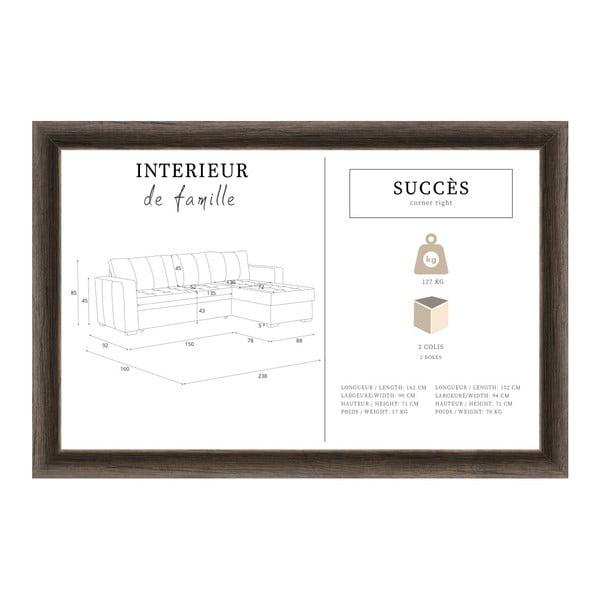 Succes türkizkék kanapé, jobb oldalas - Interieur De Famille Paris