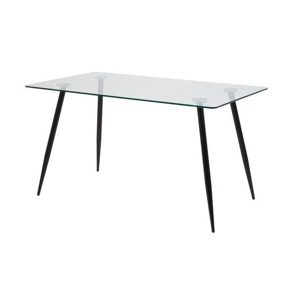 Wilma étkezőasztal üveglappal, 140x75cm - Actona
