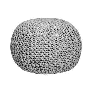 Knitted szürke kötött puff - LABEL51