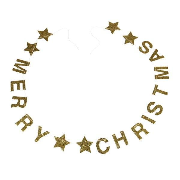 Gold Stars karácsonyi girland felirattal - Rex London