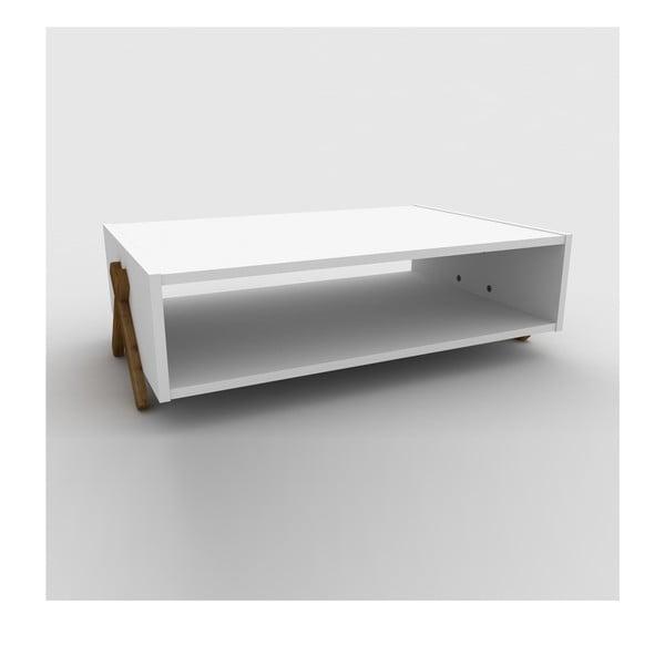 Rafevi Kipp fehér dohányzóasztal