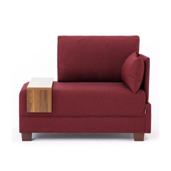 Home Martha borvörös fotel jobb oldali kartámasszal és tartóval - Balcab