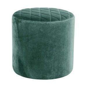 Ejby zöld bársony puff - House Nordic