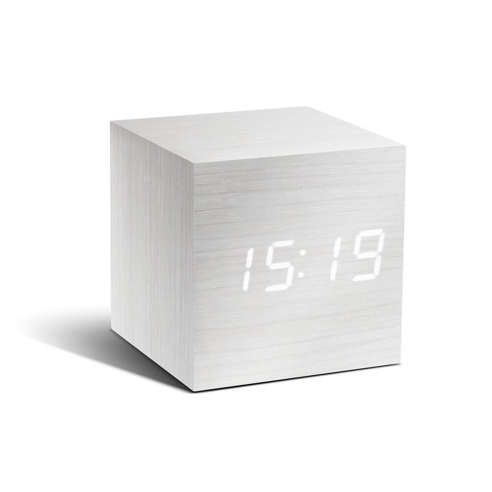 Cube Click Clock fehér ébresztőóra LED kijelzővel - Gingko  4e7f18984c
