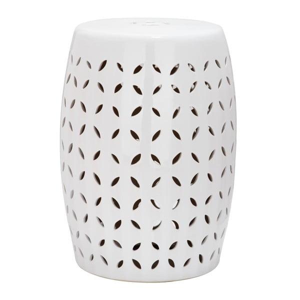 Lattice Petal fehér kültéri kerámia tárolóasztal, ø 33 cm - Safavieh