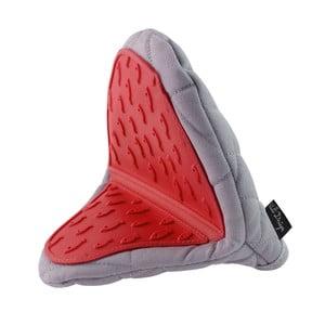 Hot Touch szürkés-piros szilikonos pamut edényfogó - Vialli Design