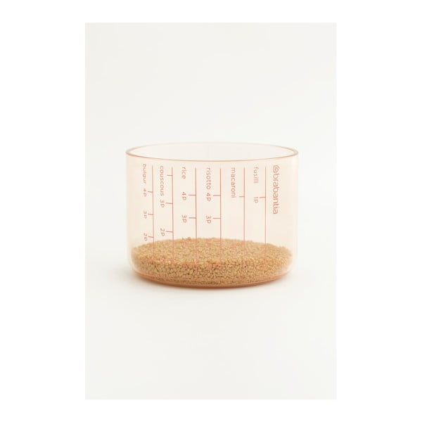 Rózsaszín tárolóedény mérőpohárral, 1,3 l - Brabantia