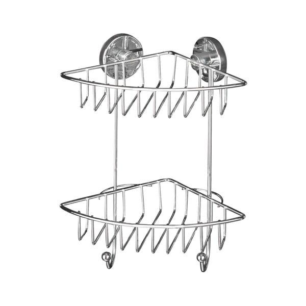 Vacuum-Loc öntapadós kétszintes sarokpolc, max. 33 kg - Wenko