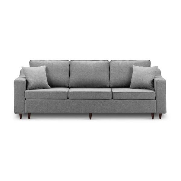 Narcisse sötétszürke háromszemélyes kinyitható kanapé tárolóhellyel - Mazzini Sofas